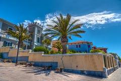 Alghero pod niebieskim niebem w wiośnie Obraz Royalty Free