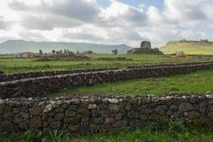 Alghero's Nuranghe. Stone Nuranghe tower in Sardegna stock image