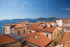 Alghero Sardinia Arkivbilder