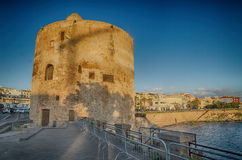 Alghero, Sardinia Island, Italy in the sunset Stock Photo