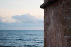 Alghero and sea. A landscapein alghero, italy, sardinia, with sky and sea royalty free stock photo