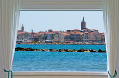 Alghero and window Royalty Free Stock Photography