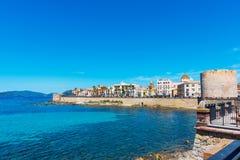 Alghero seafront in springtime Royalty Free Stock Photo