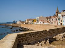 Alghero seafront  Royalty Free Stock Photography