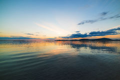Alghero shoreline at dusk Royalty Free Stock Photo