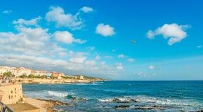 Alghero shoreline Royalty Free Stock Image