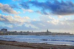 Alghero shoreline under a dramatic sky Stock Photography