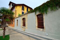 Alghero. Street view of old Alghero, Sardinia Royalty Free Stock Photos