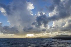 Alghero, sunset on Capo Caccia, Sardinia, Italy Stock Photography