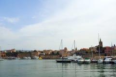 Alghero. View of Alghero from the sea side. Sardinia, Italy Stock Photo