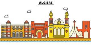 Algieria, Algiers Miasto linii horyzontu architektura Zdjęcia Royalty Free