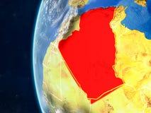 Algieria na kuli ziemskiej od przestrzeni royalty ilustracja