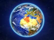 Algieria na ziemi od przestrzeni ilustracji