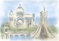 Algiers abstrakta ilustracja Zdjęcie Stock