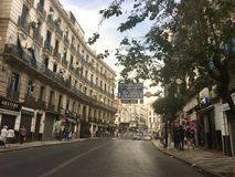 French colonial side of the city of Algiers, Bach Djarrah Algeria.Modern city has many old french type buildings. ALGIERS, ALGERIA - AGU 3, 2017: French stock photo
