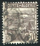 Algiers. ALGERIA CIRCA 1941: stamp printed by Algeria, shows View of Algiers, circa 1941 stock photography