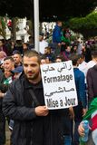 Historical protests in Algeria for changement royalty free stock photos