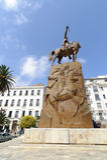 ALGIERS, ALGERIA - SEP 24, 2016: Monument Emir Abdelkader or Abdelkader El Djezairi was Algerian Sharif religious and military lea. Der who led struggle against royalty free stock images