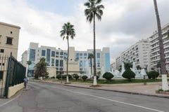 ALGIERS, ALGERIJE - 24 SEP, 2016: Nationaal instituut van muziek van Algiers Het instituut wordt gevestigd dichtbij door oude sta Stock Foto's