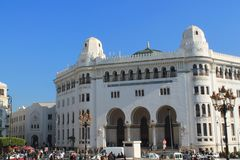 Algiers, capital city of Algeria. Architectural style in Algiers, Algeria Royalty Free Stock Images