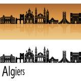 Algiers linia horyzontu w pomarańcze Fotografia Stock