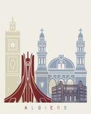Algiers linii horyzontu plakat Zdjęcie Royalty Free