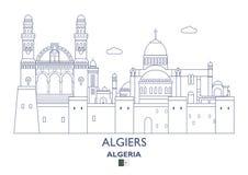 Algiers miasta linia horyzontu, Algieria Zdjęcie Stock