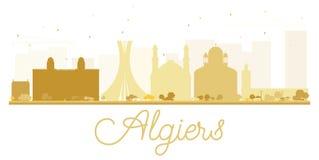 Algiers miasta linii horyzontu złota sylwetka Obrazy Royalty Free