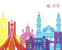 Algiers skyline pop Stock Photos