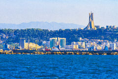 Algiers. View of Algiers, the capital city of Algeria stock images