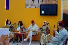 algierscy ludowi muzycy tt Warsaw Obrazy Royalty Free