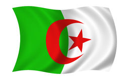 algierska flagę Fotografia Stock