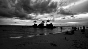 Algo arruina de la isla de Boracay Imagen de archivo