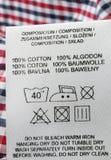 algodão 100% Imagens de Stock