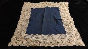 Algodão do vintage & lenço do laço imagem de stock royalty free