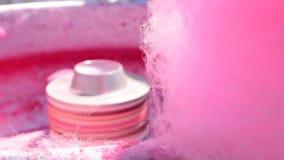 Algodão doce deprodução de trabalho do algodão doce filme
