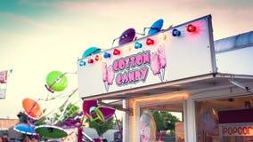 Algodão doce na feira em Mineola fotos de stock