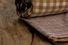 Algodão, tinturas naturais, assoalhos de madeira, superfícies, algodão Fotografia de Stock Royalty Free