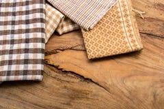 Algodão, tinturas naturais, assoalhos de madeira, superfícies, algodão Fotografia de Stock