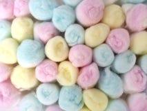 Algodón del color en colores pastel Fotos de archivo
