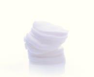 Algodón en un fondo blanco Imagen de archivo