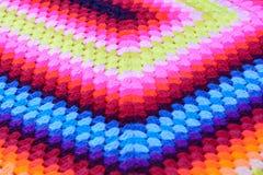 Algodón tejido mano colorida Imágenes de archivo libres de regalías