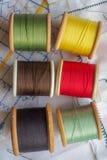 Algodones coloreados Fotografía de archivo libre de regalías