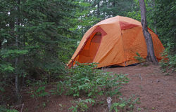 Algonquin Orange Tent Stock Images