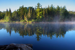 Algonquin park. A beautiful morning at algonquin park stock photo
