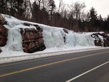 Algonquin Park Ontario, Ice Waterfalls Stock Photography