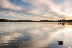 Algonquin Park Sunrise. Picture of a lake in Algonquin Provincial Park Ontario, Canada at Sunrise royalty free stock images