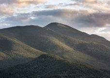 Algonquin Peak at Sunset. A close up view of the McIntyre Range with Algonquin Peak in the center royalty free stock photos
