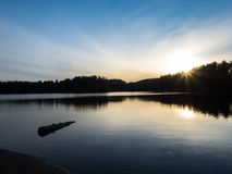 Algonquin Provincial Park Mew Lake Evening Sunset Royalty Free Stock Photos