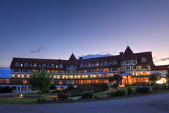 Algonquin Resort, St. Andrews, New Brunswick at dusk royalty free stock image